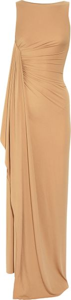Michael Kors Stretch Crepe-jersey Gown in Beige (nude) - Lyst