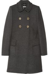 Miu Miu Wool Princess Coat - Lyst