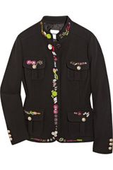 Moschino Cheap & Chic Embellished Wool-blend Jacket - Lyst