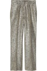Moschino Metallic Bouclé Cropped Pants - Lyst