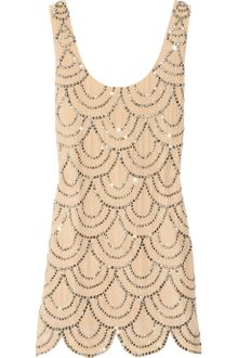 Rachel Gilbert Scala Beaded Silk Mini Dress - Lyst