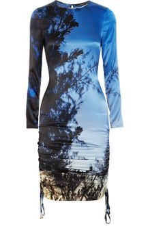 Roberto Cavalli Printed Silk-jersey Dress - Lyst