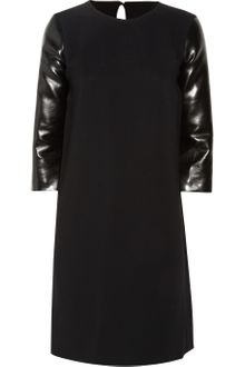 Stella McCartney Crepe Dress and Faux Leather Dress - Lyst