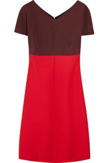 Victoria Beckham Paneled Stretch-jersey and Wool Dress - Lyst