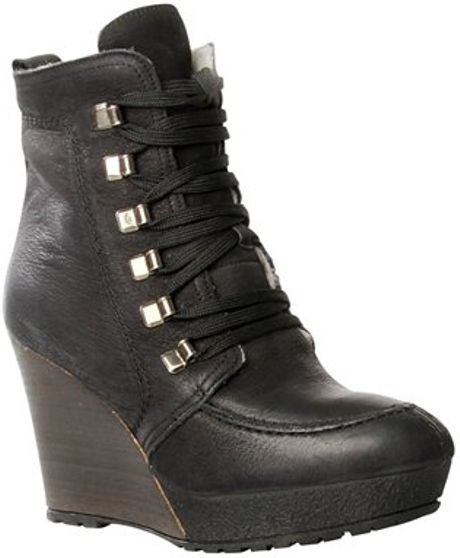 carvela kurt geiger lace up leather wedge boots