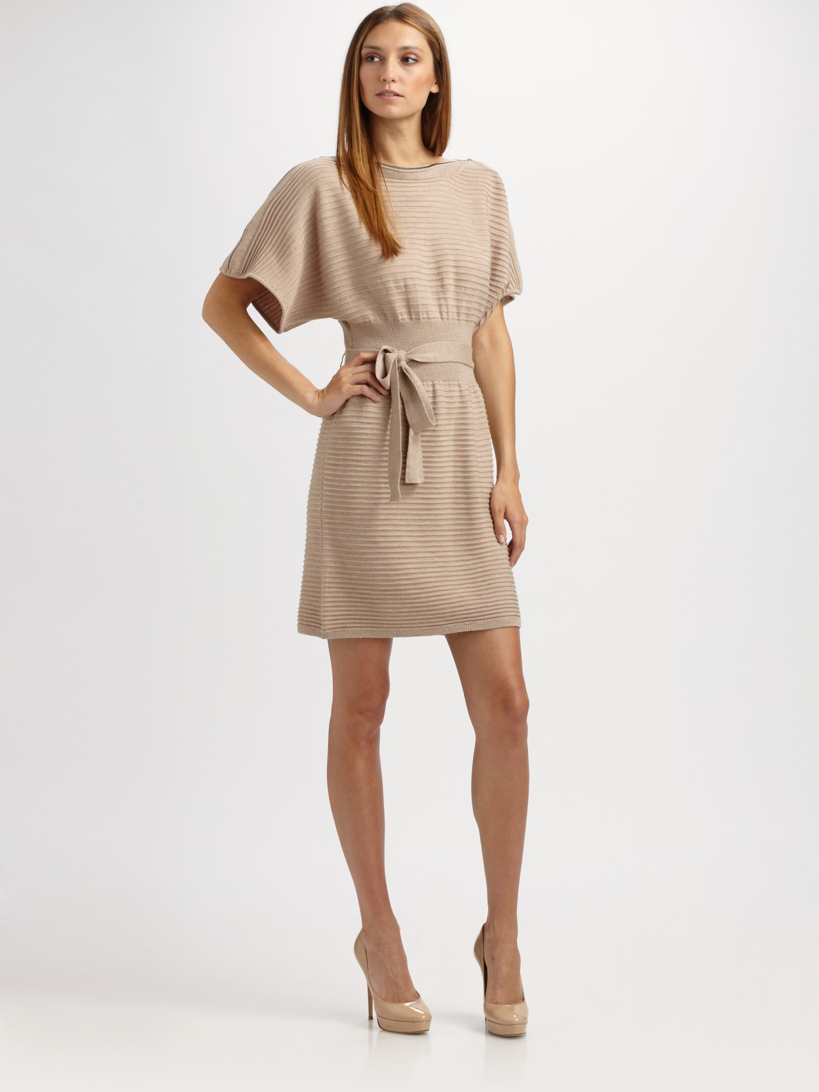 Laundry by Shelli Segal Sweater Dress in Oatmeal (Natural ...