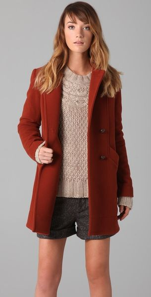 Lover Hooded Pea Coat - Lyst