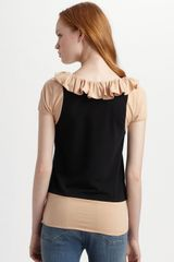 Marc By Marc Jacobs Fosse Colorblock Jersey Top in Brown - Lyst
