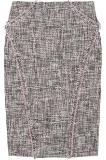 Zac Posen Silk-blend Tweed Pencil Skirt - Lyst