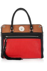DKNY Color-block Leather Tote - Lyst
