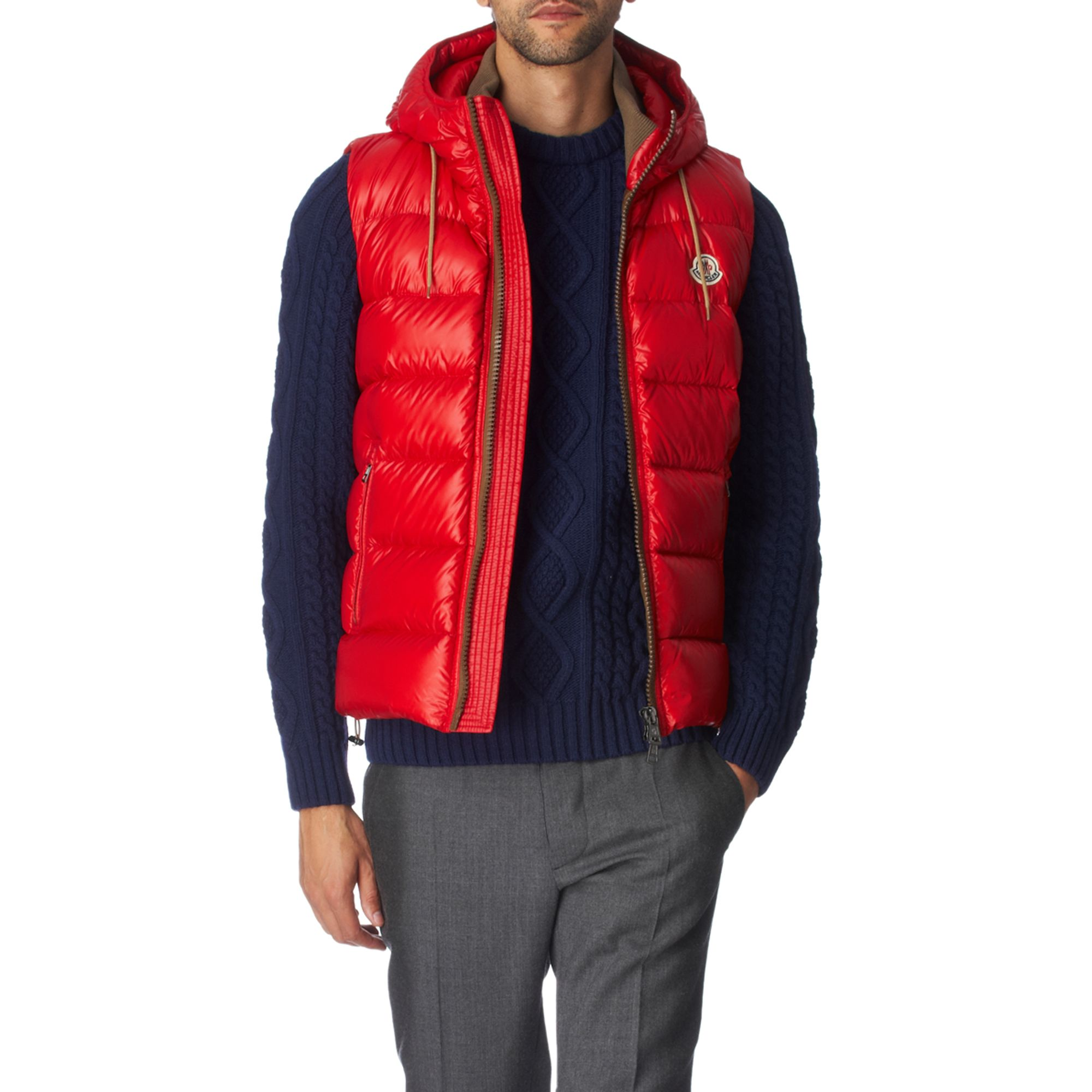 53db3a79ba38 Men Men Men Lyst Shiny Moncler In Red Gilet Gilet Gilet For Padded ...