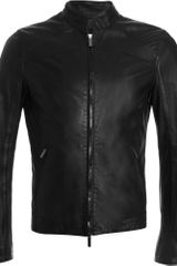 Armani Motorcycle Jacket - Lyst