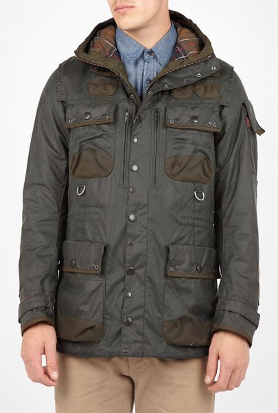 Barbour By To Ki To Sage Green Waxed Multi Pocket Military Jacket in Green for Men (sage) - Lyst