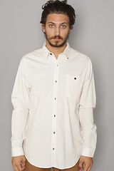 Comune The Howard Buttondown Shirt in White - Lyst
