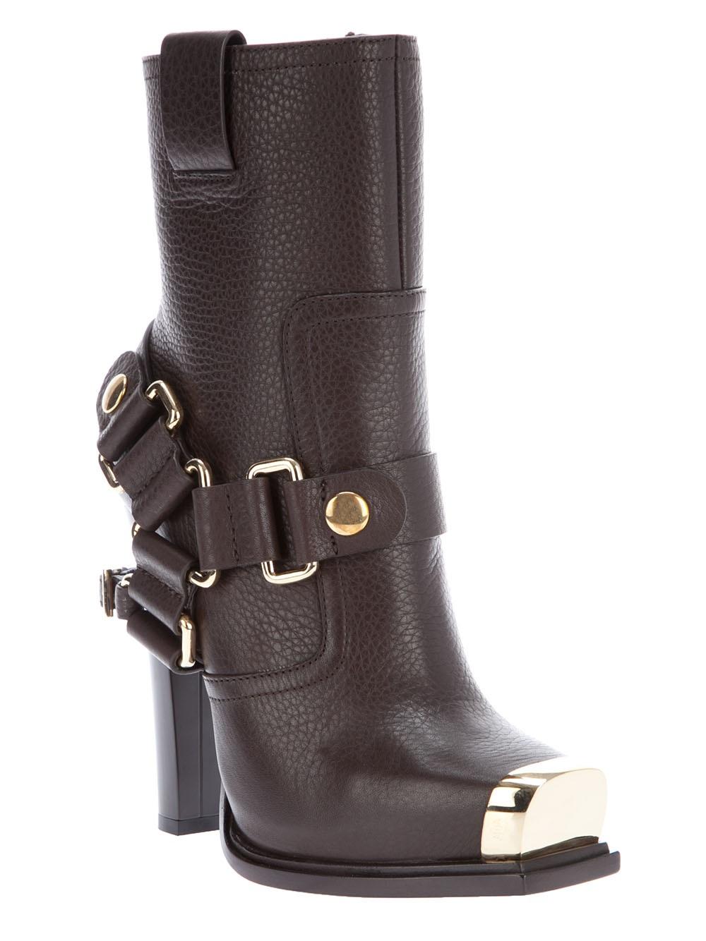 gianmarco lorenzi high heel boot in brown lyst