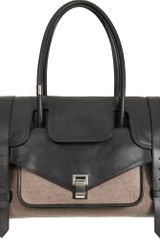 Proenza Schouler Ps1 Keep All Large Leather/felt - Lyst