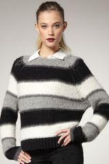 Alice + Olivia Striped Knit Sweater - Lyst