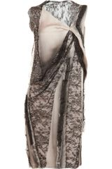 Bottega Veneta Layered Drape Dress - Lyst