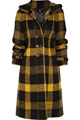 Burberry Prorsum Plaid Wool Coat - Lyst