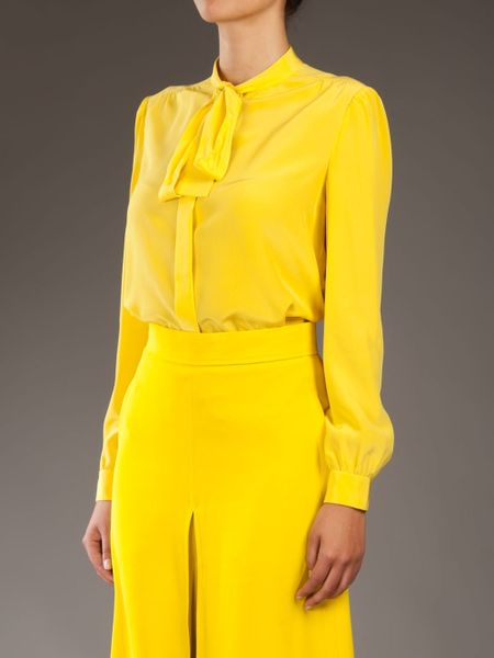 Yellow Blouse With Bow 76