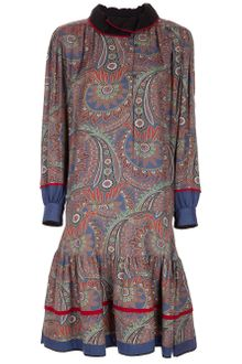 Kenzo Vintage Long-sleeved Dress - Lyst