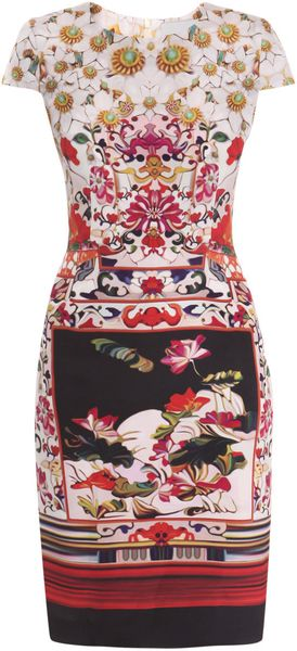 Mary Katrantzou Lily Pond Silk Dress - Lyst