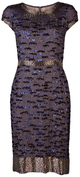 Oscar de la Renta Beaded Dress - Lyst
