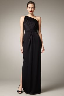 Pamella Roland One-shoulder Crepe Gown - Lyst