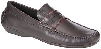 Tommy Hilfiger Carl 1a Leather Driver Loafers Dark Brown - Lyst