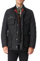 Barbour Quilted International Wax Jacket - Lyst