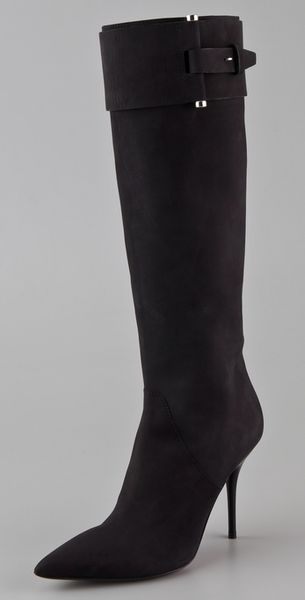 calvin klein kalen high heel boots in black lyst