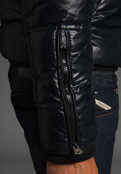 Diesel Widol Down Jacket In Black For Men Lyst