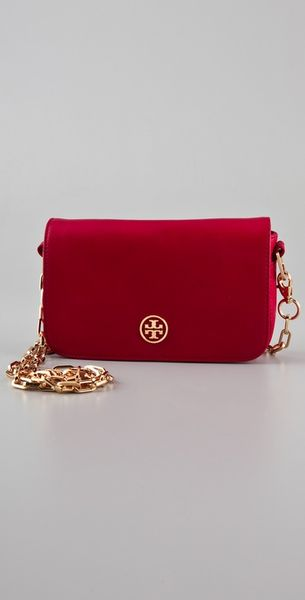Tory Burch Saffiano Robinson Chain Bag - Lyst