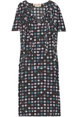 Marni Polka-dot Crepe Dress - Lyst