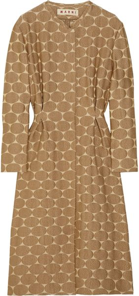 Marni Polka-dot Jacquard Cotton-blend Coat - Lyst