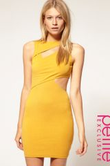 ASOS Collection Asos Petite Exclusive Cut Out Wrap Bodycon Dress - Lyst