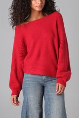 Free People Horizontal Rib Cropped Sweater - Lyst