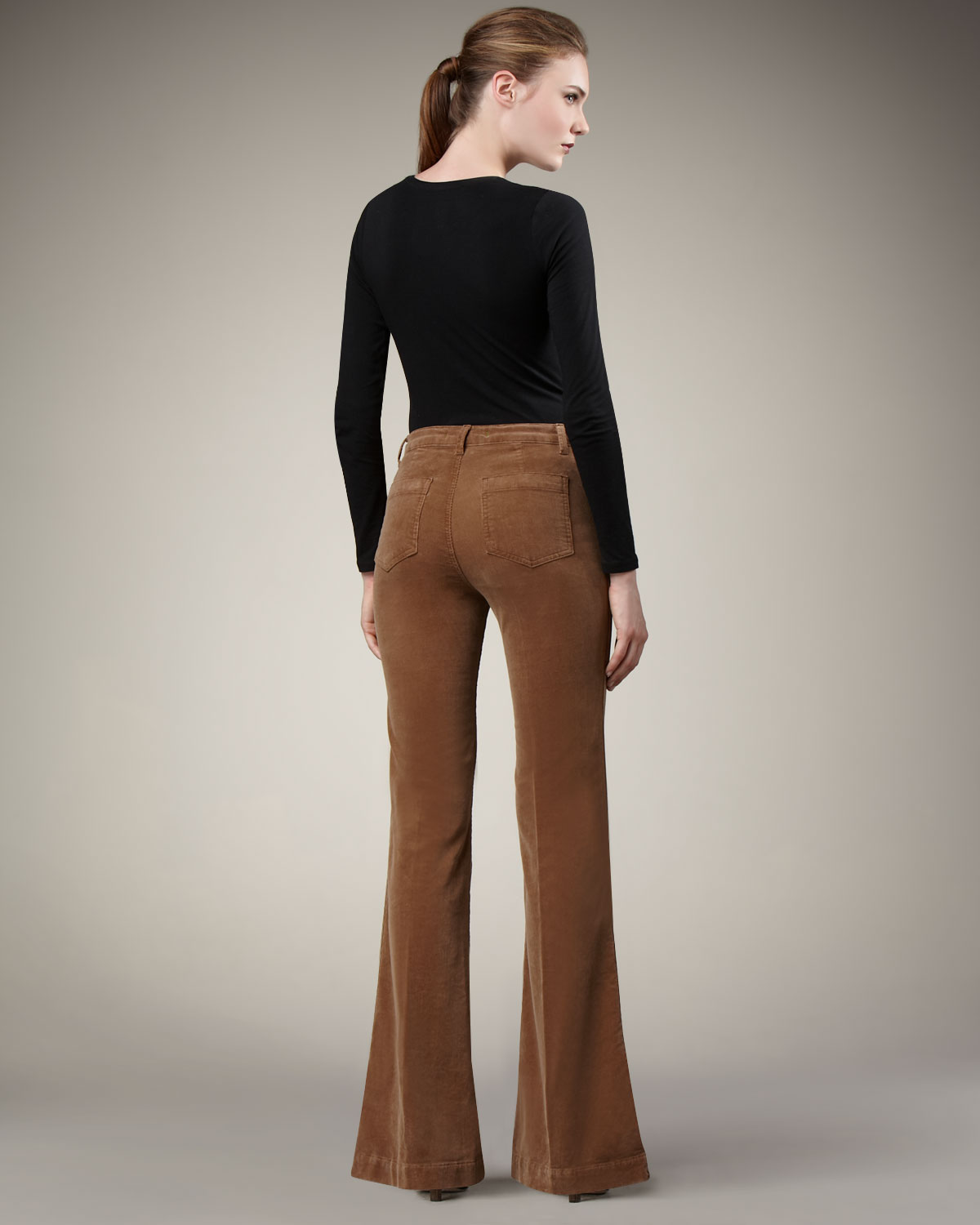 J brand Ali Wide-leg Corduroy Pants Toffee in Brown | Lyst