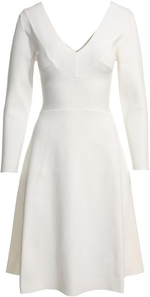 Reiss Fit and Flare Dress in Beige (cream) - Lyst