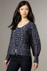 Winter Kate Moonbeam Printed Blouse - Lyst