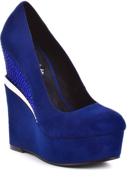 Michael Antonio Studio Arizona  Blue Suede in Blue - Lyst
