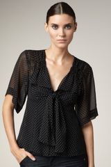 Nanette Lepore Big Boss Polka Dot Blouse - Lyst