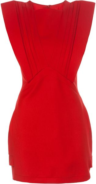 Hakaan Short Sleeved Dress in Red - Lyst