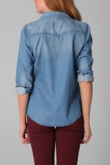 Joe's Jeans Sexy Western Shirt in Mia in Blue - Lyst