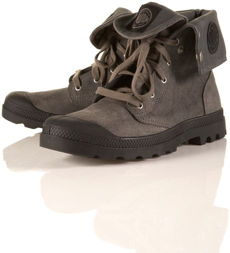 Simple Palladium Ankle Boots In Gray Grey  Lyst