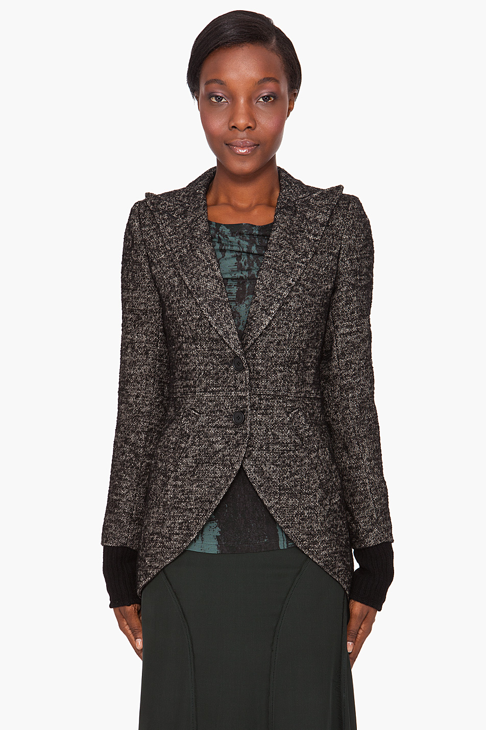 Smythe tweed riding jacket in black lyst for Smythe designer