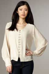 Winter Kate Moonbeam Solid Blouse - Lyst
