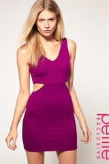 ASOS Collection Asos Petite Exclusive Mini Dress with Cross Back Cut Out Side - Lyst