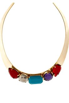 ASOS Collection Asos Gem Torque Necklace - Lyst