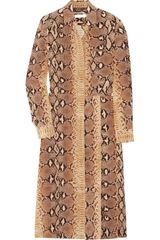 Chloé Python-print Silk Dress - Lyst